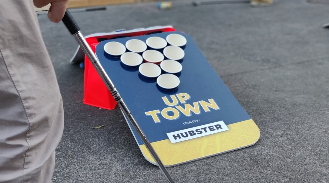 BEER PONG GOLF HUBSTER LYON STREET GOLF BIERE